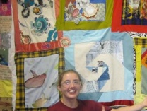 A photo of Primary Reusers' Re-purposed Quilt