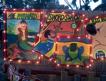 Photo of GET YOUR FREAK ON Interactive Art Wooden Fence with 5 canvas sideshow paintings