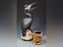 Photo of Waterways: Double Crested Cormorant Pitcher with American Eel Tumbler