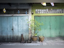 Photo of View of a Back Alley in Bangkok, Thailand
