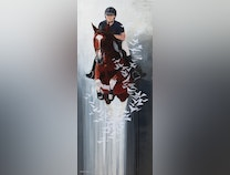 Photo of and on her horse she flies