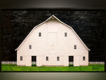 Photo of American Barn Revisited - Starry Night Over the White Barn